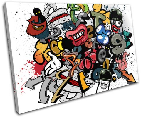 Grafitti Art Illustration - 13-0269(00B)-SG32-LO